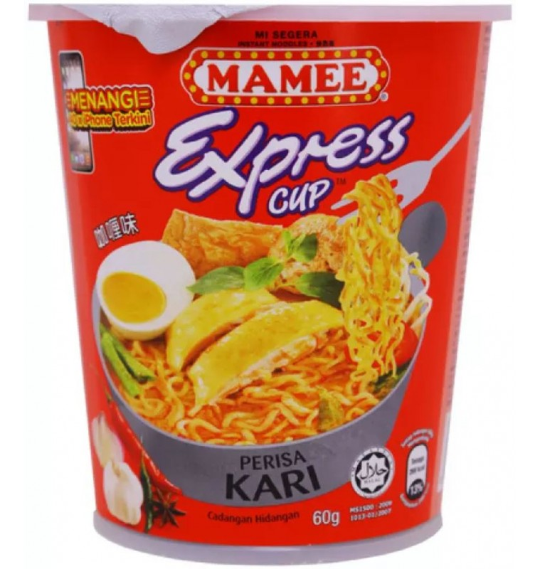 Mamee Express Cup Instant Noodles (Curry Flavour) 60gm